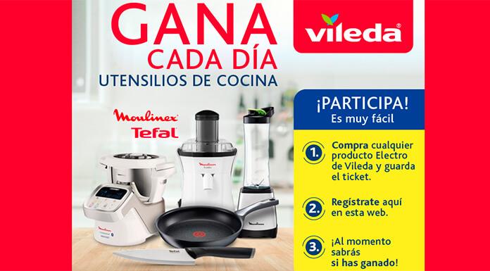 Gana utensilios de cocina todos los días con Vileda