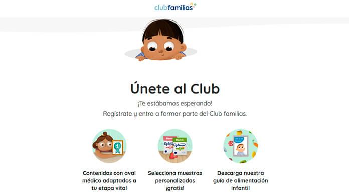 Muestras gratis para niños con Club Familias