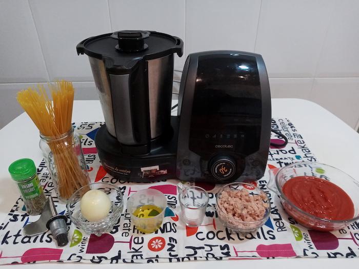 receta de ingredientes de mague spaguetti