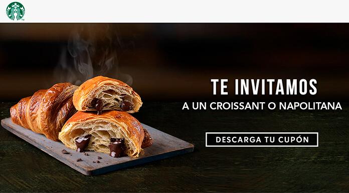 Starbucks te invita a un croissant o un napolitano