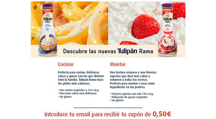 Vale de descuento de 0,50 € en Tulipan Rama