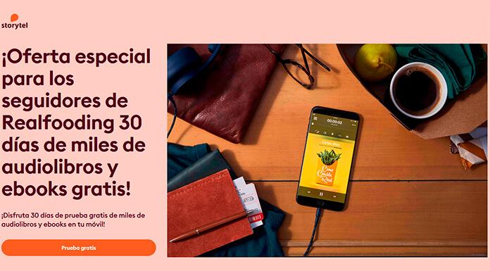 30 días gratis de Storytel para fanáticos de Realfooding