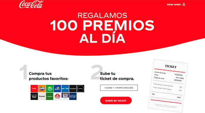 Coca Cola da 100 premios por día