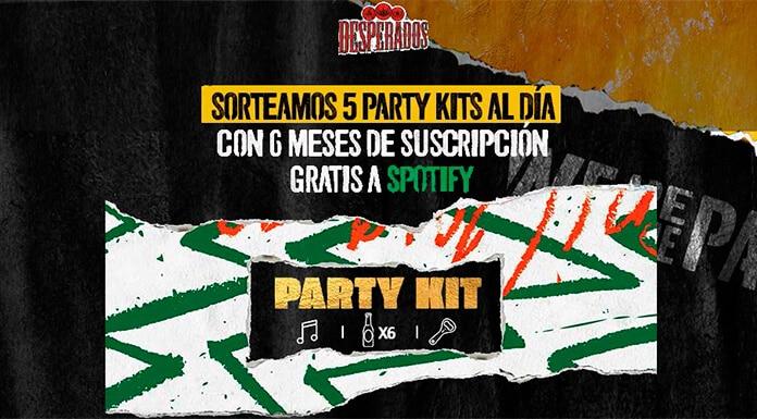 Desperados está regalando 5 kits de fiesta por día