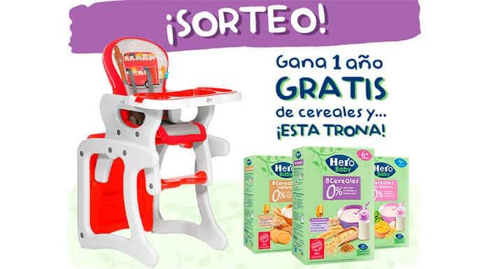 Hero Baby 1 año de lotería de cereales gratis y una trona