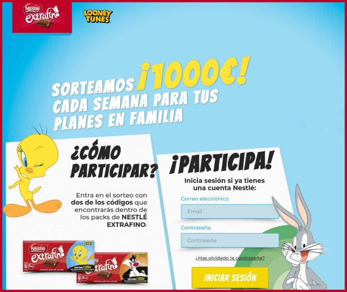 nestle-looney-tunes-draw- € 1000 por semana