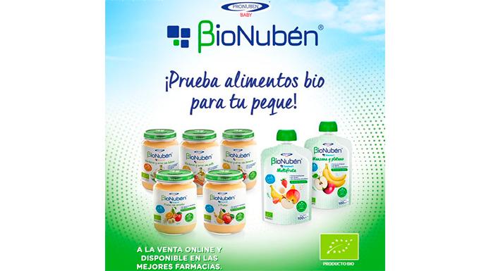 Pruebe gratis purés y sobres orgánicos de BioNubén