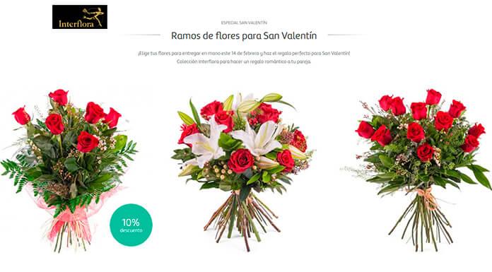 Ramos Interflora para San Valentín