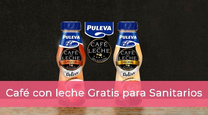 Café Puleva con leche gratis para sanitarios