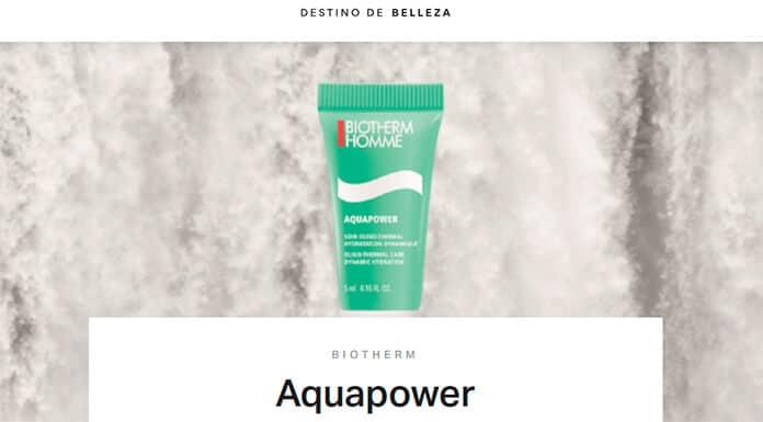 Muestras gratuitas de Aquapower en Beauty Destination