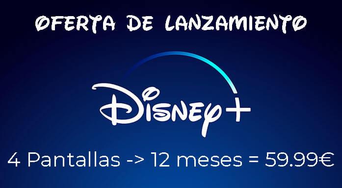 Oferta especial de lanzamiento de Disney +