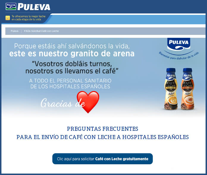 Puleva-cafés libres-profesionales-Sanitarios-espana