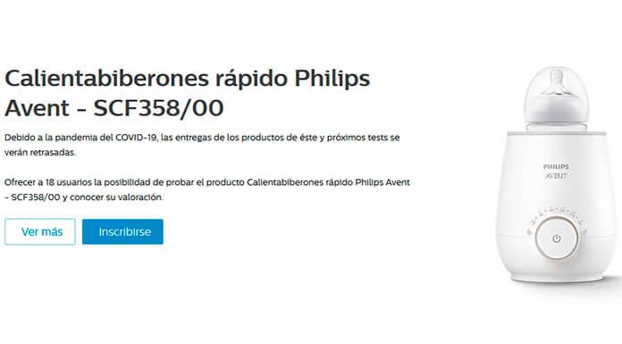 Versión de prueba gratuita Philips Avent calienta biberón rápido