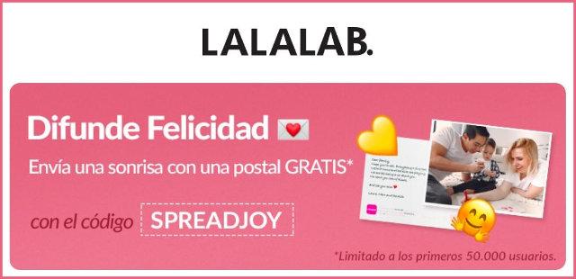 lalalab-50000-Postal libre de codigo-spreadjoy