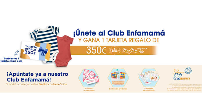 Gane una tarjeta de regalo de 350 € con Club Enfamamá