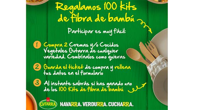 Gvtarra da 100 kits de fibras de bambú.