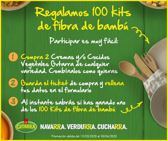 Gvtarra-rifas-100-kits de fibra de bambú