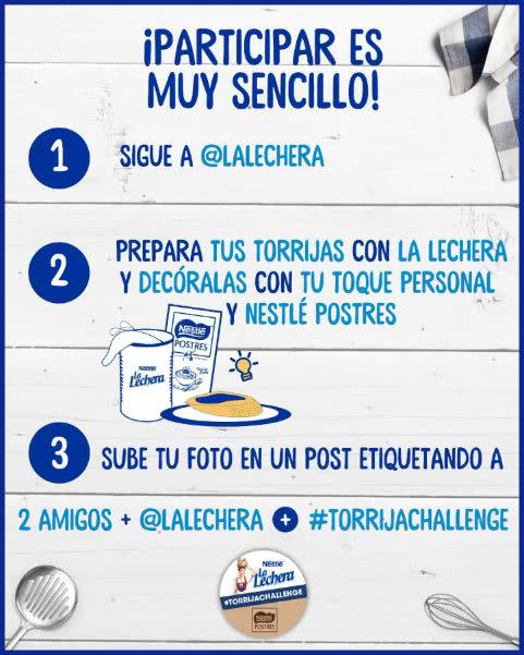 Torrija-Challenge-instrucciones lalechera-sorteo-