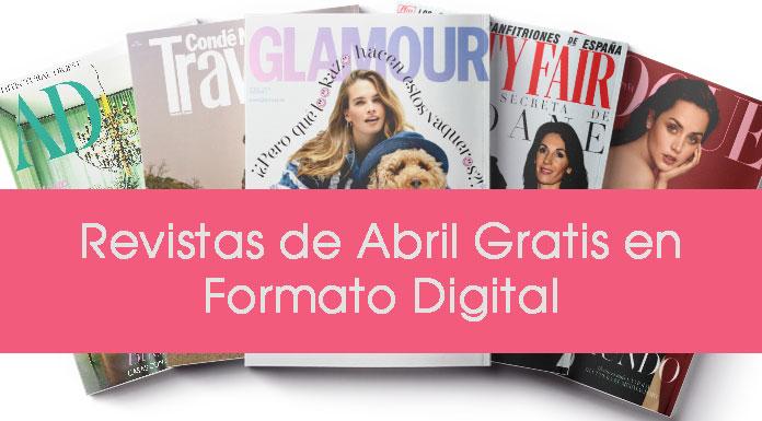 Revistas gratuitas de abril de 2020 en formato digital