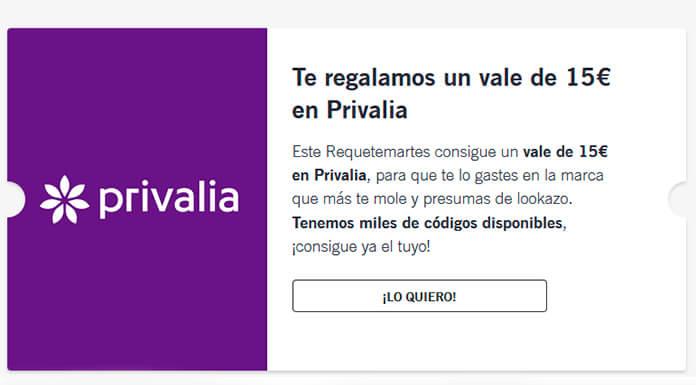 Yoigo te ofrece un vale de 15 € en Privalia