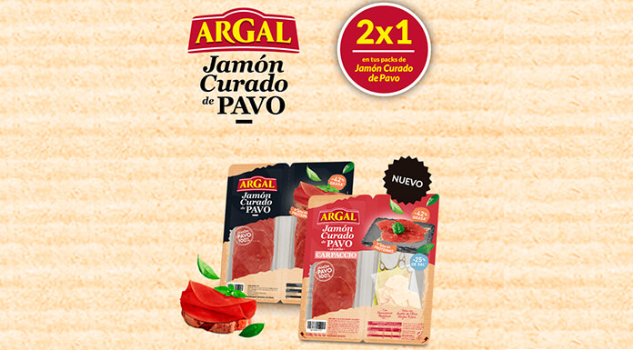 2x1 en paquetes de jamón crudo Argal Turquía