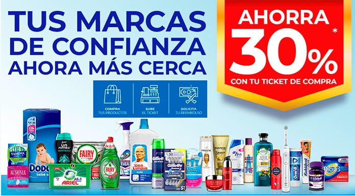 Ahorre 30% en compras de productos P&G
