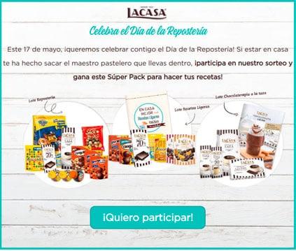 lotería del paquete de productos lacasa
