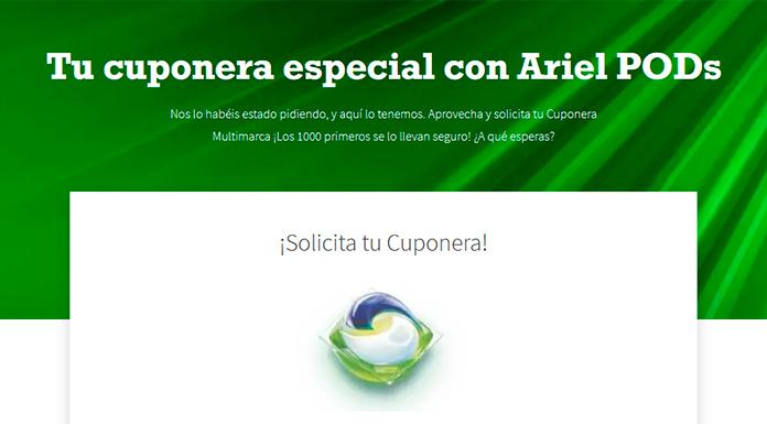 Cupones especiales gratis con Ariel Pods