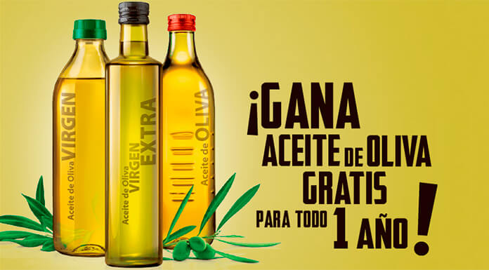 Gana aceite de oliva gratis por un año