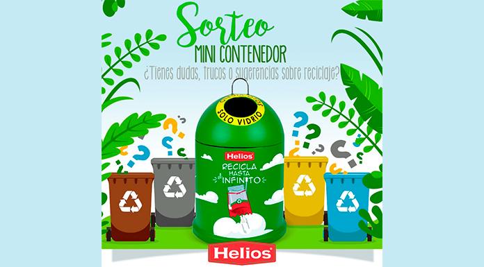 Helios regala un mini contenedor para reciclar vidrio