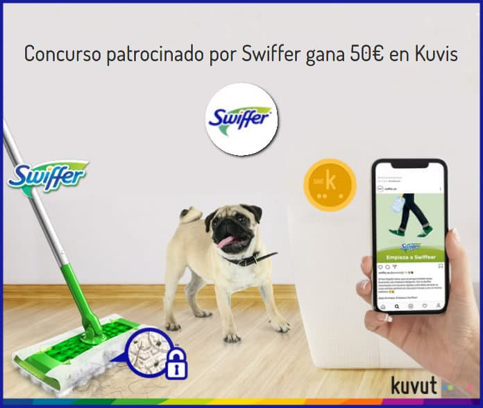 """kuvut-swiffer-50-euros-en-kuvis """"width ="""" 696 """"height ="""" 587 """"class ="""" aligncenter size-full wp-image-155069 """"srcset ="""" https://regalosymuestrasgratis.com/wp-content/ uploads / 2020/05 / kuvut-swiffer-50-euros-en-kuvis.jpg 696w, https://regalosymuestrasgratis.com/wp-content/uploads/2020/05/kuvut-swiffer-50-euros-en-kuvis -296x250.jpg 296w """"dimensiones ="""" (ancho máximo: 696px) 100vw, 696px """"/></p> <h3><strong>Para participar en la competencia Kuvut, sigue estos pasos:</strong></h3> <ul> <li>Sigue el perfil de <strong>@Swiffer_es</strong> en Instagram</li> <li>Debes tener un <strong>cuenta en Kuvut</strong></li> <li><strong>Inicia sesión en</strong> <strong>Campaña de Kuvut y Swiffer desde aquí</strong>.</li> <li>Deja un <strong>comentario</strong> Indica en qué te gustaría pasar el tiempo que ahorras cuando comienzas Swiffear.</li> <li><strong>Solo para participar</strong> Acumulará puntos para mejorar su perfil de Kuvut y tendrá más oportunidades para futuras campañas.</li> </ul> <p class="""