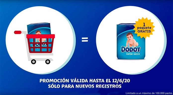 Obtén un paquete de pañales gratis con Dodot VIP