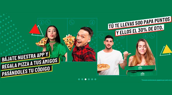 Pizzas gratis para tus amigos de Papa John & # 39; s