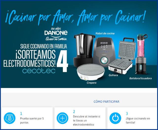 SORTEO-Danone y CECOTEC-instrucciones