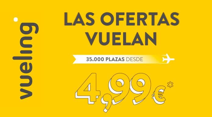 Vueling vuelos desde 4,99 €