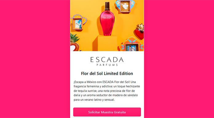 Muestras gratuitas de perfume Escada Flor del Sol Edición Limitada