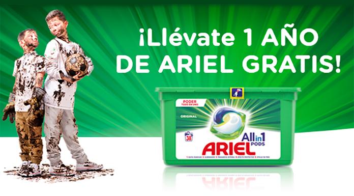 Obtén un año de Ariel gratis