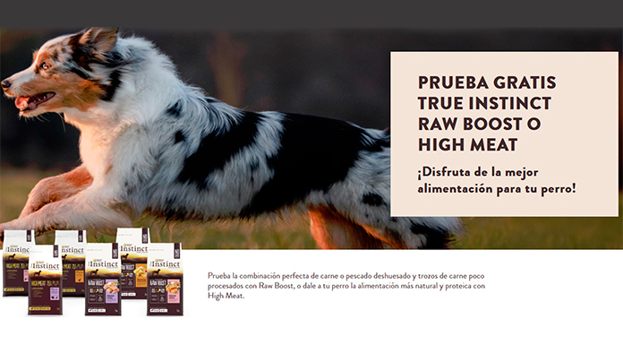 Prueba True Instinct Raw Boost o High Meat gratis