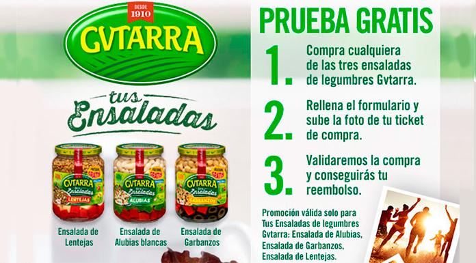 Prueba las ensaladas de legumbres Gvtarra gratis