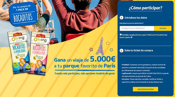 Gana un viaje de 5.000 € a París con Argal