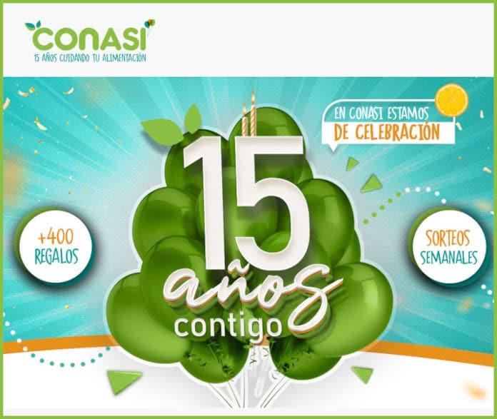 lotería del 15 aniversario conasi
