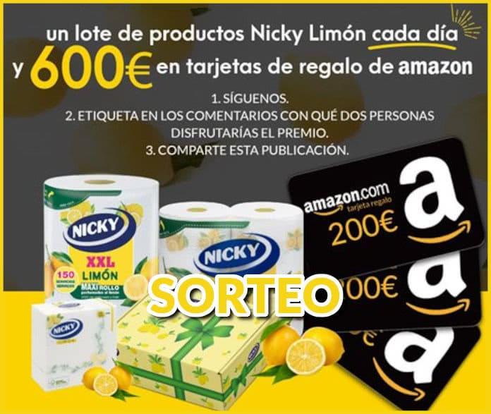 sorteo de lotería nicky limon y 600 euros