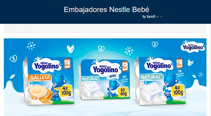 Prueba Yogolino gratis con el Nestlé Baby Ambassadors Club