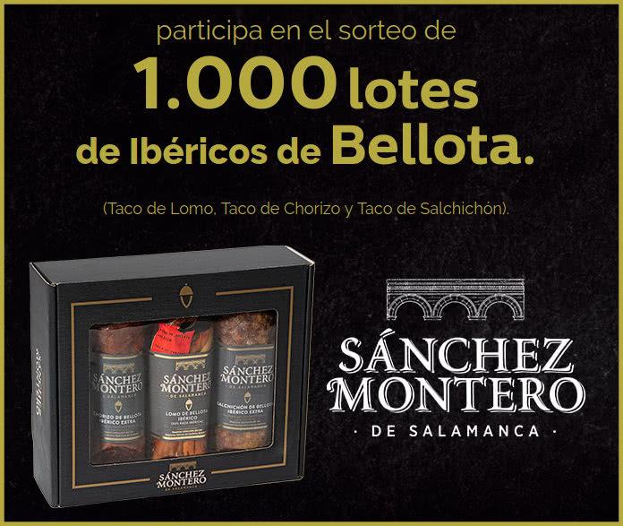 loteria 1000 lotes jamon sanchez montero y parador nacional