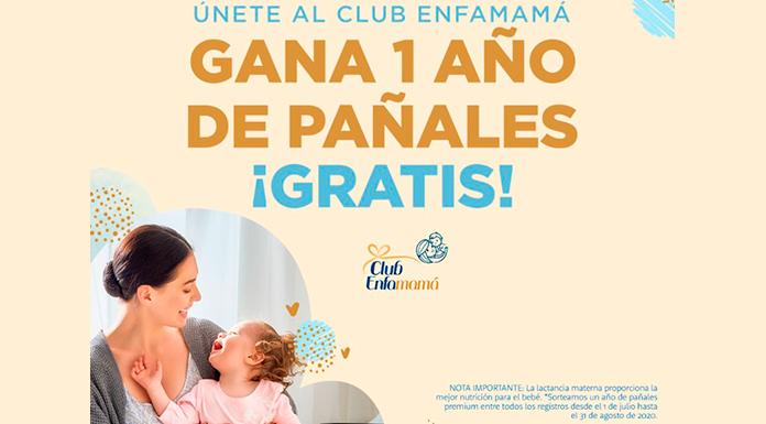 1 año de pañales gratis con Enfamamá Club