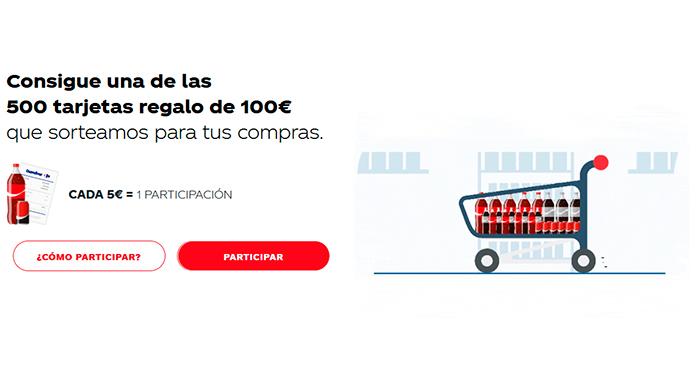 Coca Cola distribuye 500 tarjetas regalo