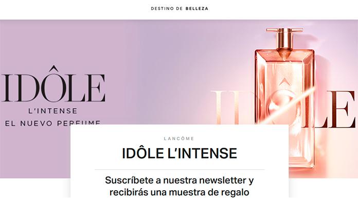 Muestras gratis del perfume Idôle L & # 39; Intense