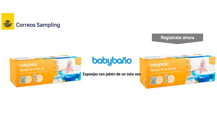 Muestras gratuitas de baño para bebés con muestra de Correos