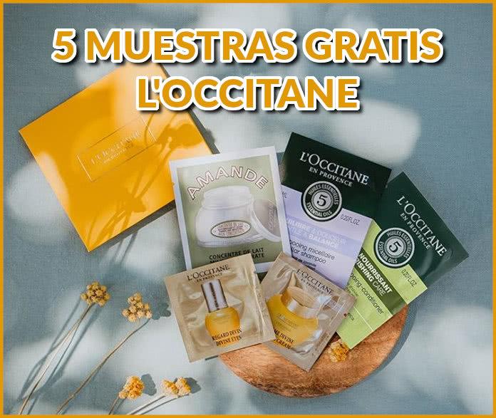 5 muestras gratis por persona Loccitane