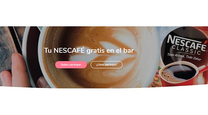 Prueba Nescafé gratis en el bar